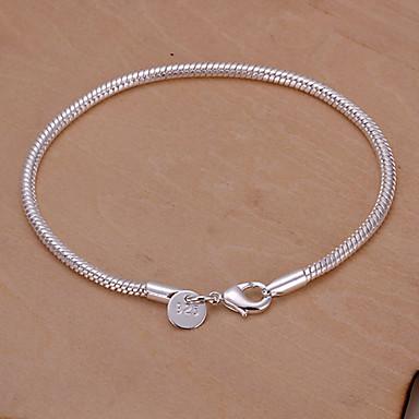 Sweet 20cm Women's Silver Copper Chain & Link Bracelet(Silver)(1 Pc)