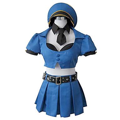 Inspirat de LOL Cosplay Video Joc Costume Cosplay Costume Cosplay Peteci Albastru Vârf / Fustă / Șapcă