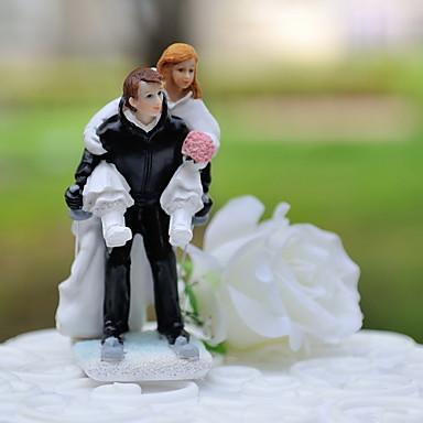 Pasta Üstü Figürler Klasik Tema Sporlar Klasik Çift Reçine Düğün ile Hediye Kutusu