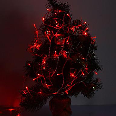 10m Leuchtgirlanden 100 LEDs Rot Dekorativ / Verbindbar 220-240 V