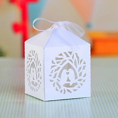 Cubic Hârtie perlă Favor Holder cu Funde Cutii de Savoare