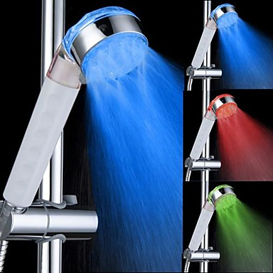 Contemporary Hand Shower Chrome Feature - LED, Shower Head
