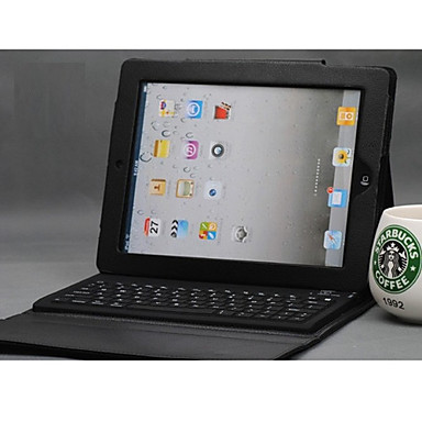 Leather Case + Wireless Bluetooth Keyboard for iPad 2/3/4