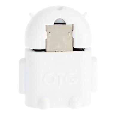 Micro USB 2.0 na USB 2.0, M / F OTG adaptér bílé