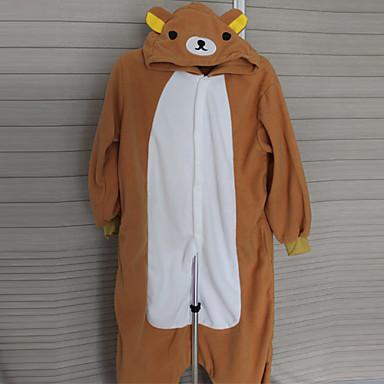 Kigurumi-Pyjamas Bär Pyjamas-Einteiler Kostüm Polar-Fleece Cosplay Für Erwachsene Tiernachtwäsche Karikatur Halloween Fest / Feiertage