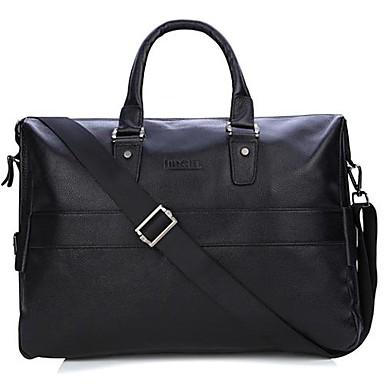 billige Vesker-Big Volume Laptop Briefcase ekte skinn Reiseskuldervesker