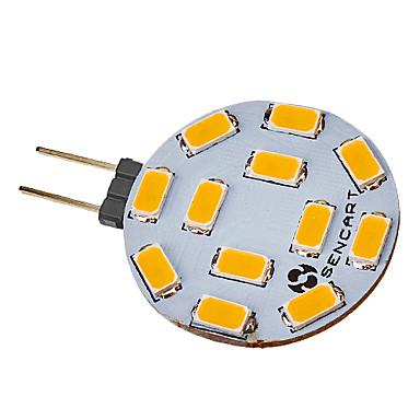 SENCART 5 W 420-500 lm G4 LED szpotlámpák 12 led SMD 5730 Meleg fehér Hideg fehér AC 12V DC 12V