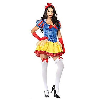 Snow Princess Style Yellow/Red Women's Carnival Party Costume Halloween Costumes