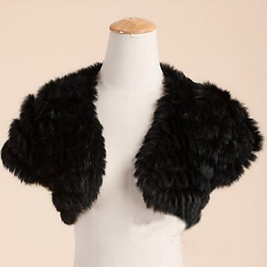 Fur Wraps Wedding  Wraps Shrugs Short Sleeve Feather/Fur Wedding Party/Evening Casual