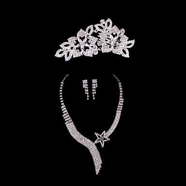 Women's Rhinestone Alloy Wedding Special Occasion Anniversary Birthday Engagement Gift Earrings Necklaces Tiaras Costume Jewelry