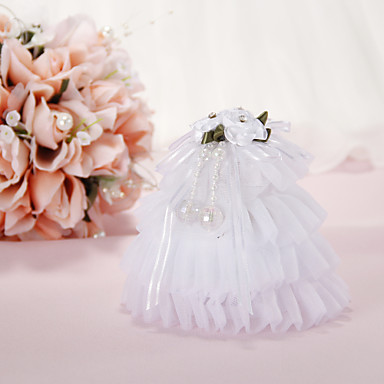 Music Box Wedding Ring Pillow with Flowers and Crystal Wedding Ceremony