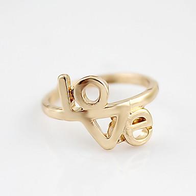 Kayshine Kvinders Golden New Arrival Kærlighed Mønster Couple Ring