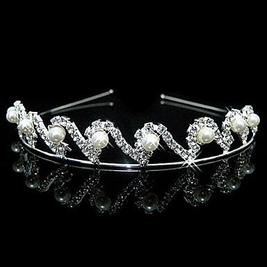 Künstliche Perle Strass Stirnbänder 1 Hochzeit Kopfschmuck
