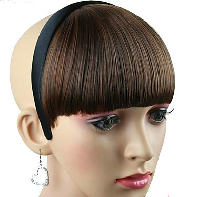 Women Synthetic Hairpiece with Hair Band Heat Resistant Fiber Cheap Cosplay Party Hair Hoop