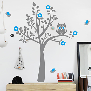 Sova Tree Home Decal Sticker na stěnu