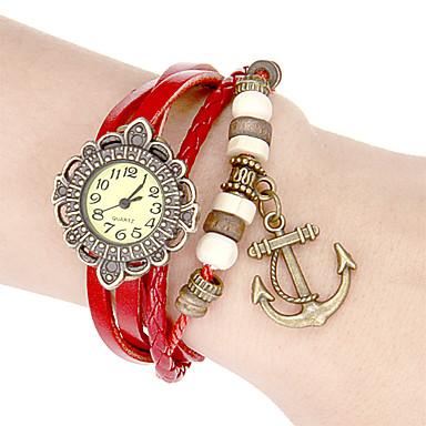 Dámské Křemenný Náramkové hodinky japonština Žhavá sleva Pravá kůže Kapela Květina Vintage Cikánské Bílá Modrá Červená Hnědá Fialová