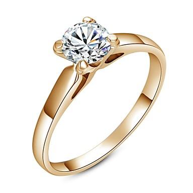 clasic doamnă clar simulat diamant inel de nunta elegant stil