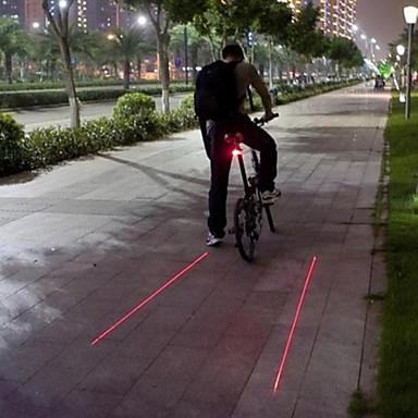 Lumini de Bicicletă Iluminat Bicicletă Spate Laser LED Ciclism Rezistent la apă Laser Atenţie Mască exterioară lanternă Lumină LED Lumeni