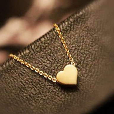 Heart Love Heart Pendant Necklace Alloy Pendant Necklace , Party Thank You Daily Casual Valentine