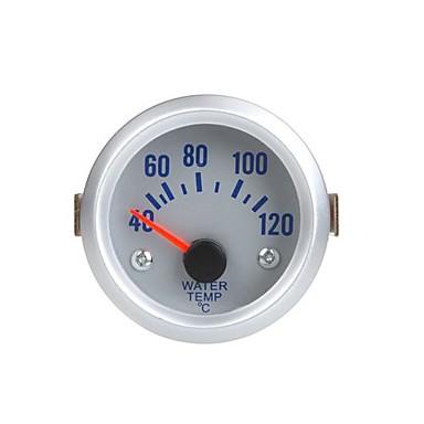 Wasser-Temperatur-Messgerät Messgerät mit Sensor für Auto Auto 2 40 ~ 52mm 120Celsius Degree orange Licht