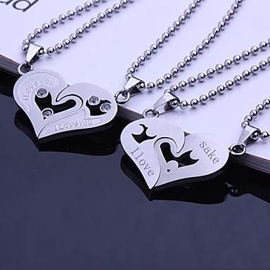 Personalisierte Geschenke Halsketten Edelstahl Unisex Geschäftlich Klassisch Liebende Urlaub Geschenk