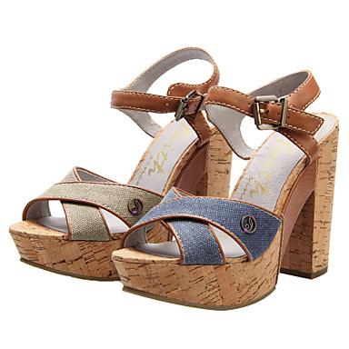 Farmer Női tagbaszakadt Heel Platform szandál cipő (több szín ... c0f605842c
