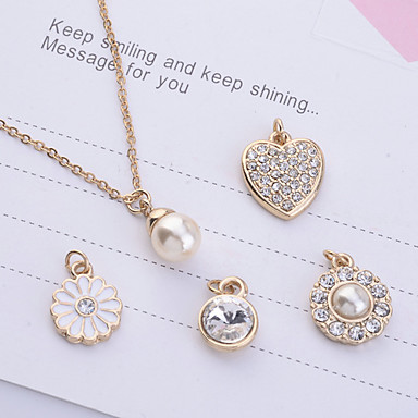 Women's Jewelry Set Pendant Necklace Imitation Pearl Rhinestone Alloy Jewelry Set Pendant Necklace , Party Daily Casual