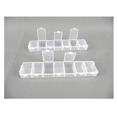 Plastic 14 Compartments Transparent  Storage Case