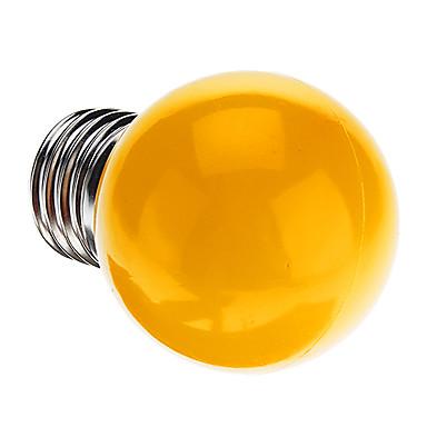 1pc 0.5 W 50 lm E26 / E27 LED Kugelbirnen G45 7 LED-Perlen Dip - Leuchtdiode Dekorativ Gelb 220-240 V / RoHs
