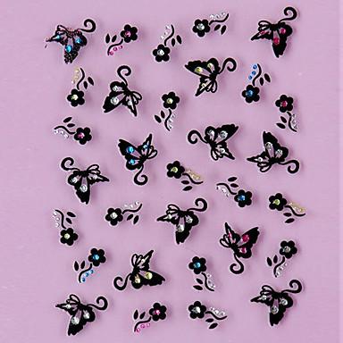 1 3D Nail Stickers Blomst Mode Smuk Høj kvalitet Daglig