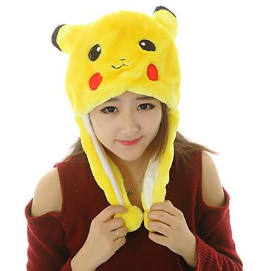 Pijama Kigurumi Pika Pika Pijama Întreagă Costume Blană Artificială Poliester Cosplay Pentru Adulți Sleepwear Pentru Animale Desen animat
