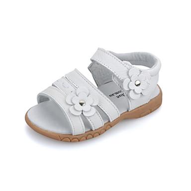 Obuv dívčí-Šaty / Běžné-Pohodlné / Sandály-KůžeBílá / Stříbrná