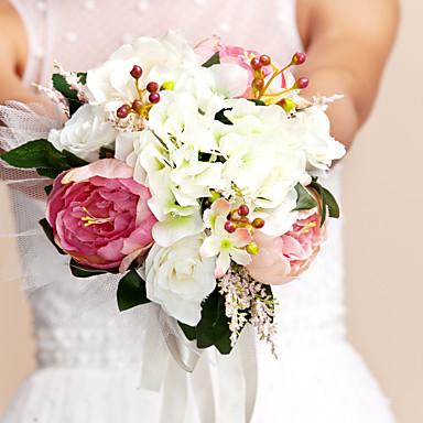 Hochzeitsblumen Sträuße Hochzeit Seide 28 cm ca.