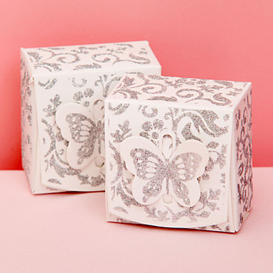 Creative Cuboid Card Paper Favor Holder with Pattern Favor Boxes - 12
