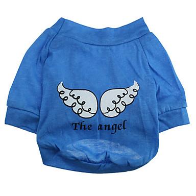 Koira T-paita Koiran vaatteet Piirretty Sininen Puuvilla Asu Lemmikit