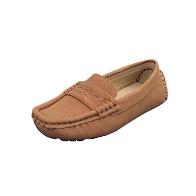 Girls' Shoes Leatherette Spring Fall Comfort Boat Shoes for Casual Black Red Brown Blue Green