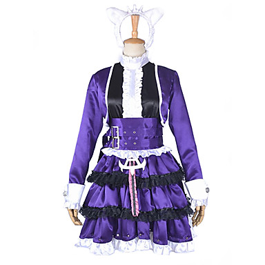 Inspirovaný LOL Annie Video Hra Cosplay kostýmy Cosplay šaty Patchwork Šaty Vlasové ozdoby Pásek Návleky na nohy