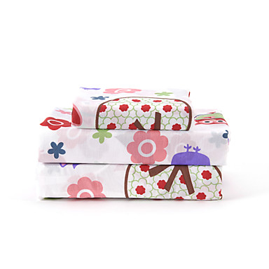 cheap Sheet Sets & Pillowcases-Sheet Set - Microfibre Floral 1pc Flat Sheet 1pc Fitted Sheet 2pcs Pillowcases (only 1pc pillowcase for Twin or Single)