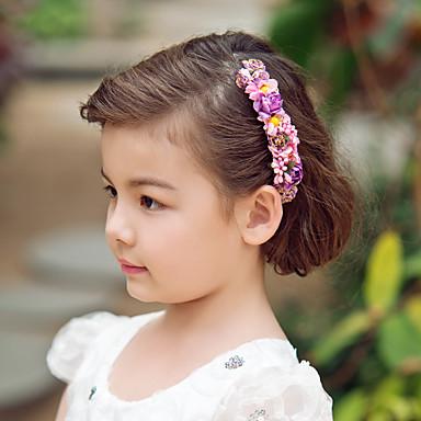 abordables Bijoux de Cheveux-Cristal / Tissu / Papier Diadèmes / Bandeaux / Fleurs avec 1 Mariage / Occasion spéciale / Fête / Soirée Casque