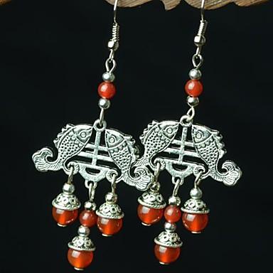 Dámské Visací náušnice Ručně vyrobeno Syntetické drahé kameny Šperky Achát Šperky Pro