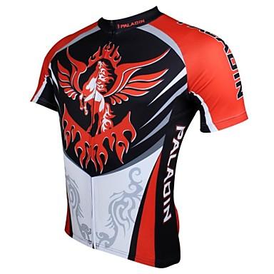 ILPALADINO Herre Kortærmet Cykeltrøje Dyr Cykel Trøje, Hurtigtørrende, Ultraviolet Resistent, Åndbart