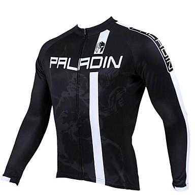 ILPALADINO Herrn Langarm Fahrradtrikot - Schwarz Fahhrad Trikot / Radtrikot, warm halten, Rasche Trocknung, UV-resistant