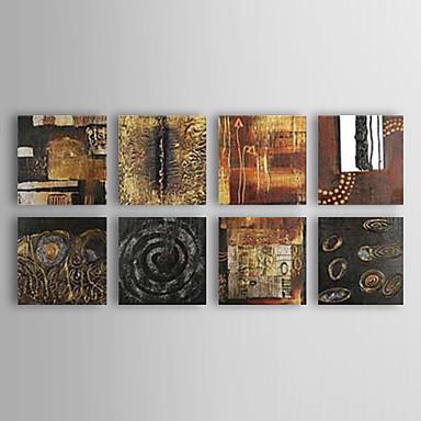 Peinture à l'huile réalisée à la main abstraite sur canevas tendu