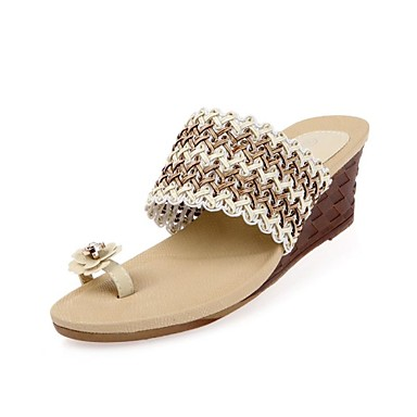 0fcf6df13a2 Women s Wedge Heel Toe Ring Sandals With Rhinestone Shoes (More Colors)