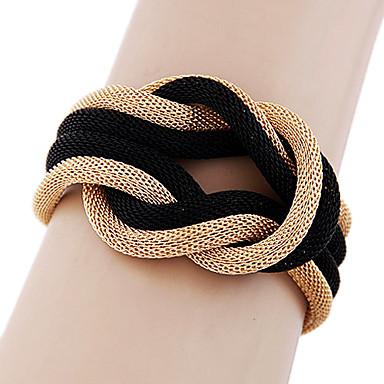 Damen Armreife - Schwarz Grau Golden Armbänder Für Alltag