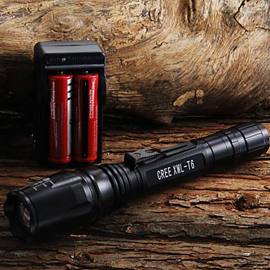 LED svítilny / Svítilny do ruky LED 400 Lumenů 1 Režim Cree XR-E Q5 18650 / AA Nastavitelné zaostřováníKempování a turistika / Každodenní