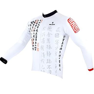 ILPALADINO Jerseu Cycling Bărbați Manșon Lung Bicicletă Jerseu Topuri Îmbrăcăminte Ciclism Keep Warm Uscare rapidă Design Anatomic