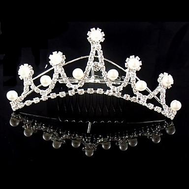 Nunta bijuterii de argint placat cu coronite de par
