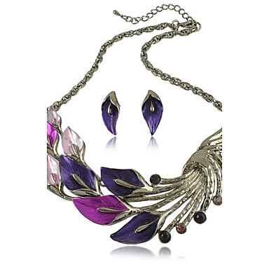 The Peacock Alloy Silver Plated With Rhinestone Jewely Set(Including Necklace And Earrings)(More Colors)