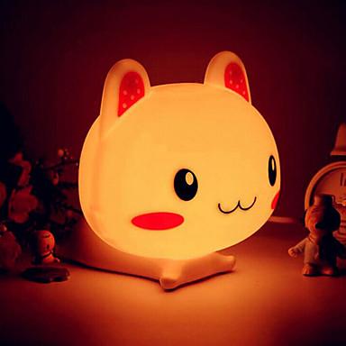 אור ABS צורת ארנב LED הלילה (מגוון צבעים)